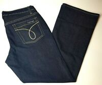 Calvin Klein Women's Mid-Rise Flare Dark Blue Stretch Denim Jeans Size 8 NWOT