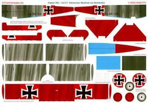 Aviattic Decals 1/32 FOKKER Dr.I TRIPLANE 525/17 Manfred von Richtofen