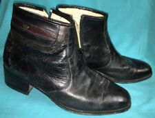 RARE  BoBo 黑綿羊 Black Sheep Leather Ankle Boots Mens 6.5 Made France Vero Cuoio