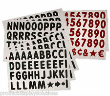"""314-4"""" Replacement Letters & Numbers KIT for WHITE Message Board Sidewalk Sign"""