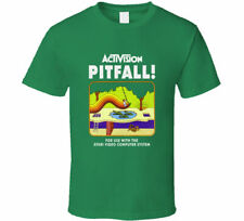 NEW Activision Pitfall Atari 2600 Retro Men's Green T Shirt FREE SHIPPING