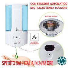 DISPENSER AUTOMATICO GEL SAPONE IGIENIZZANTE 400ML MURO PIANTANA TOTEM BAR HOTEL
