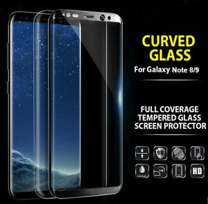 For Samsung Galaxy Note 8 9 Tempered Glass Full Cover Screen Protector