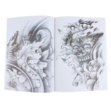 A4 70 Pages Tattoo Body Art Design Flash Sketch Line Manuscripts Book Supply