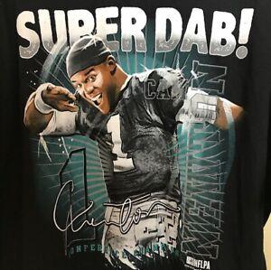 Cam Newton Super Dab Long Sleeve Shirt Large Carolina Panthers 2016 Gildan