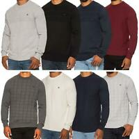 Mens Fitted Sweater Crew Neck Medium Knit Pullover Casual Formal Winter Jumper