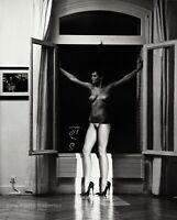 1981 Vintage HELMUT NEWTON Female Nude Woman SYLVIA Shoe Fashion Photo Art 11X14