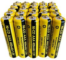 25 x AAA Rechargable Batterys 1.2V 400mAh Pack Electronic Devices Phones Toys