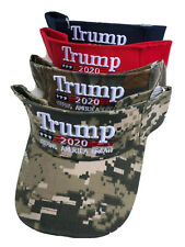 Trump Visor Embroidered Keeping America Great 2020 Blue Red Army Camo Hat
