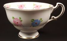 Made in England Bone China Tea Cup Pink & Blue Floral Design Gold Trim #538