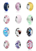Design Authentic 925 Silver Murano Glass Beads Charm fit European Chain