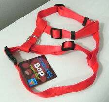 Dog Harness Red Woven Adjustable Nylon Small Size Pet Male Female