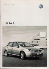 Volkswagen Golf Mk5 Hatchback Specification 2008 UK Market Brochure
