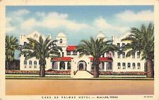 McAllen Texas~Casa De Palmas~House of Palm Trees Postcard 1937 Linen