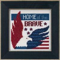 MILL HILL Counted Cross Stitch Kit - PATRIOTIC QUARTET - HOME OF THE BRAVE