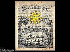 Solstice Soleil 10 x 8 dictionnaire mot ART PRINT POSTER Wicca Pagan livre des ombres