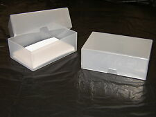 10 x BUSINESS CARD BOX PLASTICA TRASPARENTE parti Craft Perline Box Holder Contenitore