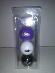Baltimore Ravens 3 Pack NFL Golf Balls
