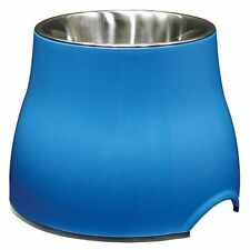 Dogit 2 in 1 Elevated Dog Dish 900ml Large Raised Feeding Bowl/Water Bowl, Blue
