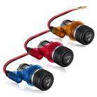 Car Motorcycle 12v Waterproof Cigarette Lighter Power Socket Plug Outlet 4 Color