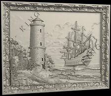 STL 3D Models # LIGHTHOUSE SHIP SEA # for CNC Aspire Artcam 3D Printer