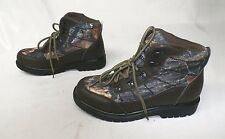 Deer Stags Boy's Hunt Hiking Boot Brown Smooth/Camoflauge GG8 Size 5M