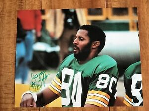 Autographed James Lofton Color Green Bay Packers Photo from 1980s