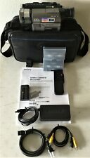 Sony Handycam CCD-TRV36 8mm HI-8 Player w/Remote Sony Bag 100% Complete & Extras