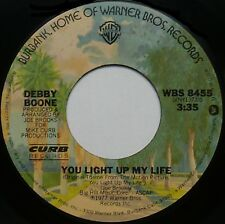 "DEBBY BOONE You Light Up My Life / Hasta Manana 7"" 45rpm Warner Bros. Records"