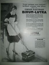 PUBLICITE DE PRESSE BIRUM CIREUSE ELECTRIQUE ILLUSTRATION FAURET AD 1928