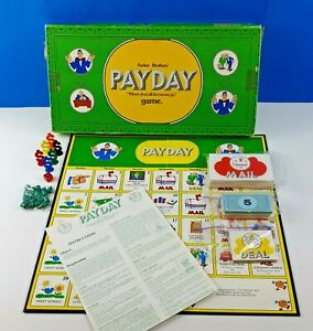 Vintage PAYDAY 1974 Board Game Parker Brothers Green Box 1 Missing Peg