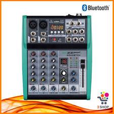 Mixer Audio Amplificato con Effetti per dj Bluetooth karaoke Studio USB 4 canali