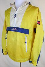 Vintage Tommy Hilfiger Men's Medium Rain Jacket Sailing Gear Yellow Color Block