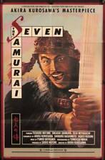 983 Seven Samurai 1sh R82 Akira Kurosawa's Shichinin No Samurai, Toshiro Mifune
