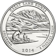QUARTER DOLLAR DES ETATS-UNIS 2014 S - GREAT SAND DUNES NATIONAL PARK