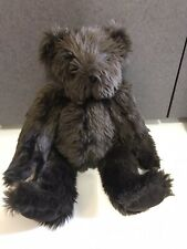 """The Vermont Teddy Bear Jointed Espresso Chocolate Brown 16"""" Plush stuffed animal"""