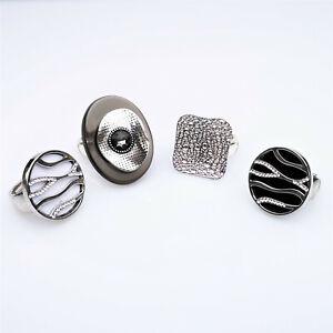 Damenring Ring Fingerring Stretchring Schmuck Silber 4 Modelle Trend NEU
