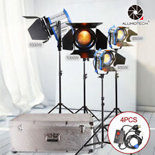Fresnel Tungsten Spot Lighting 650W*2+1000W*2+Aluminium Case+Stands+Dimmers Kit