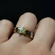 Stainless Steel Silver & Gold Rings that Make a Star Two Rings