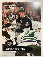 1991-92 Pro Set Captain - WAYNE GRETZKY #574 Los Angeles Kings Insert