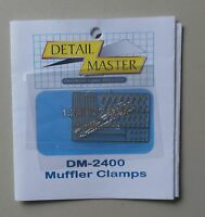 MUFFLER CLAMPS 1:24 1:25 DETAIL MASTER CAR MODEL ACCESSORY 2400