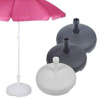 20L Rattan Garden Patio Plastic Parasol Base Beach Umbrella Stand Summer Shade