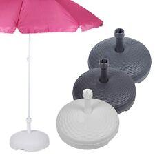 More details for 20l rattan garden patio plastic parasol base beach umbrella stand summer shade