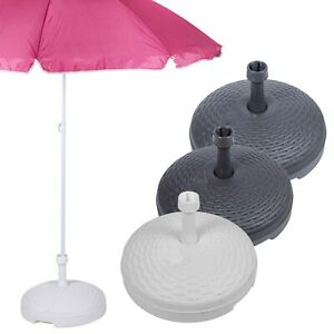 20L Rattan Garden Patio Plastic Parasol Base Beach Umbrella Stand Summer Shade