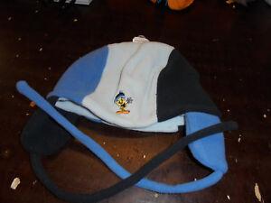 Mütze Kindermütze Fleecemütze LOONEY TUNES mit Ohrenklappen neu Kopfgr.52-54 cm