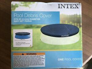 "NIB Intex 28020E Easy Set swimming pool debris cover 8ft. Above Ground 12"" overh"