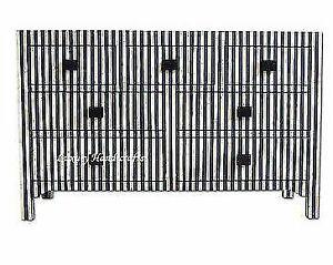 Handmade Bone Inlay Black White Stripe Zebra Line Chest of Drawer Dresser