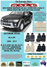 Mitsubishi Triton ML/MN 06-15 Genuine Sheepskin Car Seat Covers Pr 22MM Abg Safe