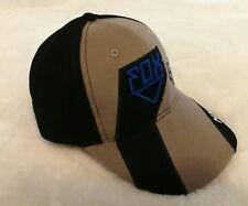 FOX MX Adjustable Strapback Baseball Cap Grey, Blue & Black: One Size Fits Most
