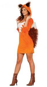Damen Kostüm Foxy Girl Fuchs Fellkostüm sexy Tierkostüm Erwachsene Damenkostüm